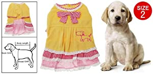 Dog Yellow Clothes Apparel Dress Small Dog Pet from sourcingmap