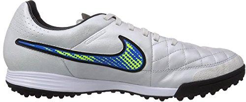 Nike - Tiempo Legacy TF, Scarpe da calcio da uomo Weiß (White/Volt-Soar-Black)