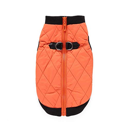 Fashion Dog Vest,Small Medium Dog Wool Sweater Bomber Jacket Coat with Winter Warm Costume (Color : ORANGE, Size : XS)