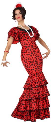 Imagen de atosa  disfraz de sevillana para mujer, talla m/l 15588