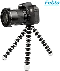 Gorilla Flexible Mini Tripod (10 inch Height) for Cameras, DSLR and Smartphones with Universal Mobile Attachment