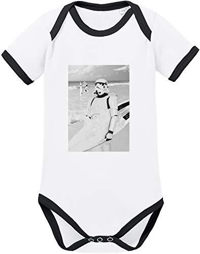 EZYshirt® Stormtrooper Baby Body Kurzarm Bio Baumwolle (Luke Skywalker Baby-kostüm)