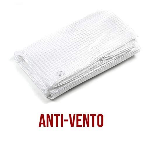 STI Telo Bianco occhiellato retinato Antivento antistrappo Anti UV Varie Misure