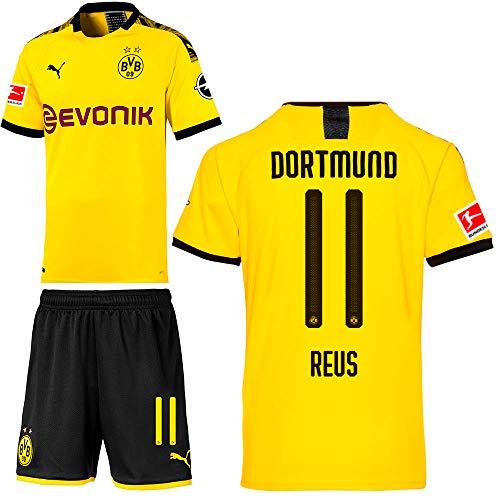 Puma Borussia Dortmund BVB Heimset 2019 2020 Home Kit Trikot Shorts Kinder Marco Reus 11 Gr 140 -
