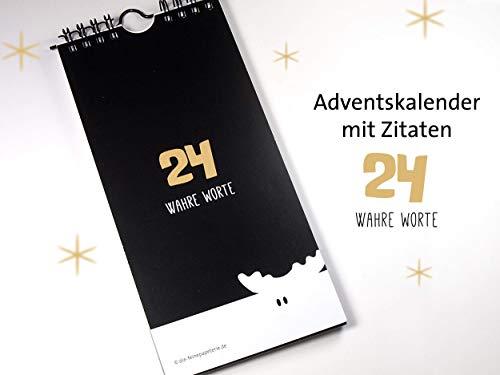 Adventskalender Wahre Worte 10 x 21 cm Dichter Zitate Philosphie Designkalender