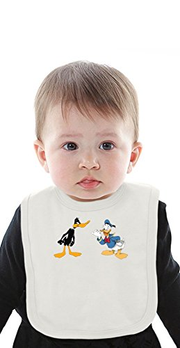 duck Organic Baby Bib With Ties Medium ()