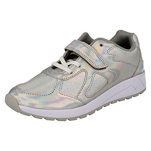 Clarks Girl's Silver First Walking Shoes - 12 kids UK/India (30 EU)