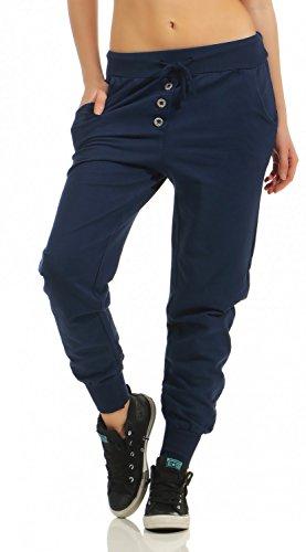 Damen Freizeithose Sporthose Sweat Pants lang (623), Grösse:M/38, Farbe:Dunkelblau
