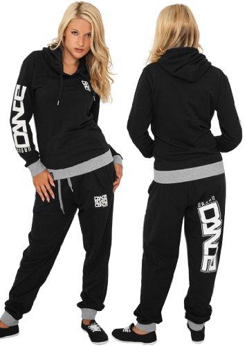 Urban Dance Damen Sporthose Udance Contrast Sweatpant Black/White