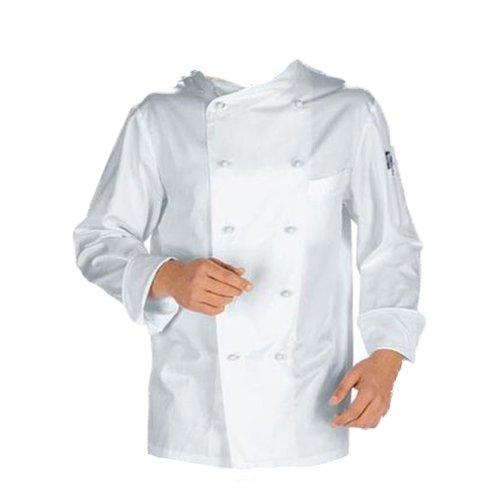 Giacca casacca da cuoco chef cotone bianca con bottoncini divisa classica M/48