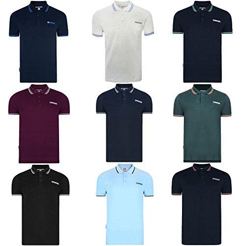 Lambretta Mens Polo Tops Tshirt In 6 Colours Black Navy White All Sizes S To 4XL