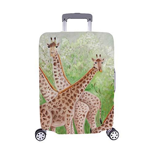 (Nur abdecken) Original Gemälde Schöne Giraffen Masai Mara Spandex Staubschutz Trolley Protector case Reisegepäck Beschützer Koffer Abdeckung 28,5 X 20,5 Zoll - Masai Giraffe