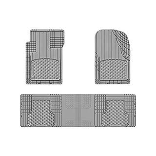 WeatherTech 11AVMSGR Universal Trim To Fit AVM Rubber Mat Set 4 Pieces Grey