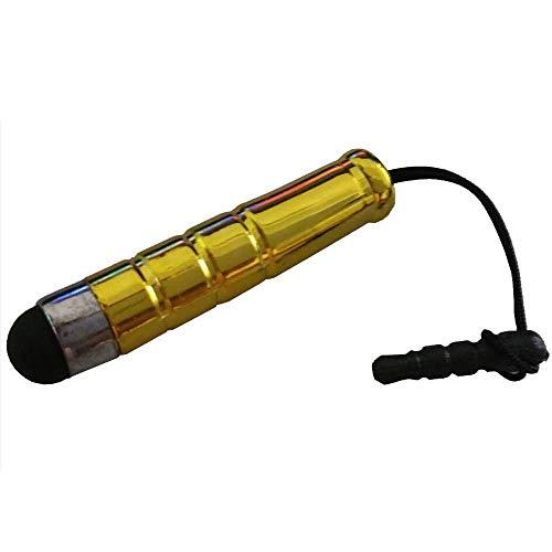 Janly 1 stücke Mini Kapazitive Stylus Touch Pen 3PC-Kunststoff-Touch-Pen mit DREI Ringen (Gold)