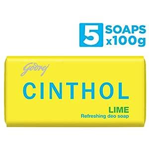 Cinthol Lime Bath Soap 100g (Pack of 4) + 100g FREE