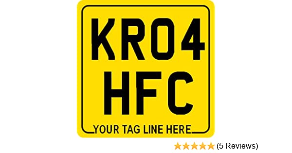 6 x 5 6 x 4 8 x 6 vehicle reg no registration licence license index plates for motorcycl 7 x 7 UK style MOTORCYCLE REAR NUMBER PLATE /≈ non-legal show plates with border free tag line text and optional GB logo 7 x 5 choice of sizes 9 x 7