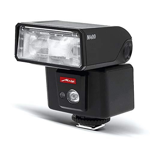 Metz mecablitz M400 für Fujifilm | Ultra-kompakter & leistungsstarker Systemblitz mit Leitzahl 40 | Made in Germany, OLED-Display, TTL, HSS | Ideales Zubehör für kleine DSLRs & spiegellose Kameras