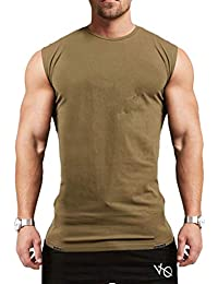 JiXuan Hommes Muslce Gilet Débardeurs Bodybuilding Fitness Hommes Coton  Singlets O-Cou Shirt Homme Chemise 4acf4f2c8446
