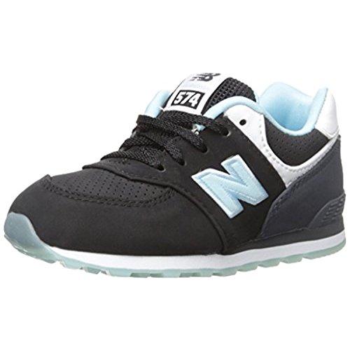 New Balance KL574 State Fair Running Shoe (Infant/Toddler), Black/Blue, 17 W EU