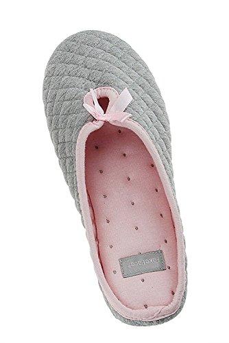 Minetom Donna Pantofole Emoji Invernali Peluche Pistone Caldo Grigio EU 36-37