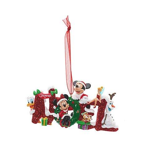 Decorazione natalizia noel topolino e i suoi amici, disneyland paris, ornamento natalizio disney ufficiale