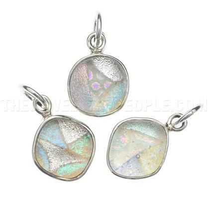 Dichroic Glass & Silver Pendant - Random Sizes