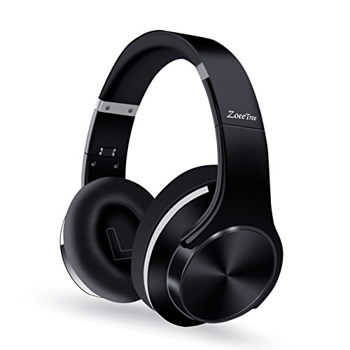 ZoeeTree H1 Cuffie Bluetooth, CSR HiFi Audio Stereo Headset, Cancellazione del Rumore Avanzate Headphones Wireless Pieghevole, Tempo di Riproduzione di 30 ore, Compatibili con Cell Phone/ TV/ PC (Nero)