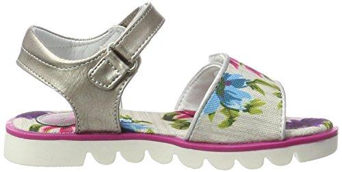 Wrangler Ollie Velcro Girl, Sandales  Bout ouvert fille Weiß (WHITE FLOWERS)