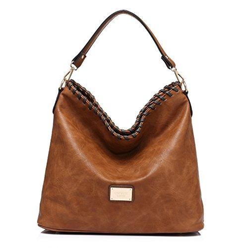 Handtasche Hobos Tote Umhängetasche für Frauen Große Kapazität Messenger Bag Geldbörse (Shoulder Hobo Tote)