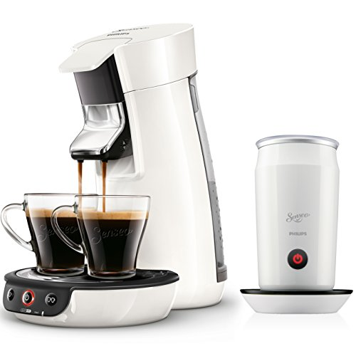 Philips Senseo HD7829/00 Viva Café Kaffeepadmaschine + Senseo CA6500/01 MilkTwister Milchaufschäumer