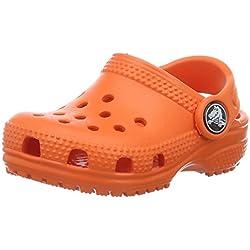 Crocs Classic Clog Kids, Zuecos Unisex Niños, Naranja (Tangerine), 25/26 EU