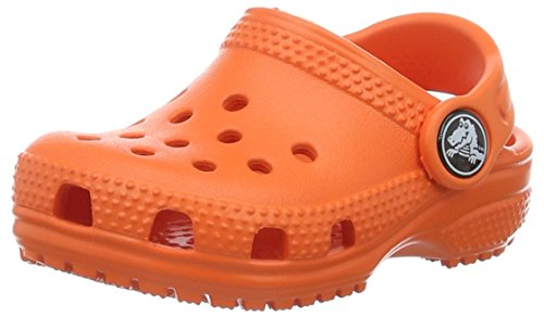 Crocs classic clog kids, sabot unisex-bambini, arancione (tangerine), 28/29 eu