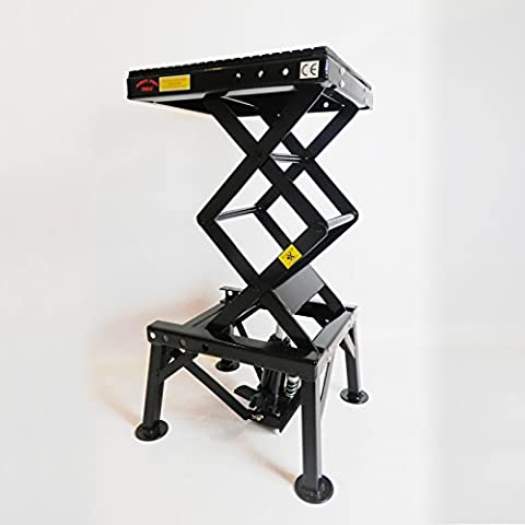 Dirty Pro Tools™ Professional Hydraulic Scissor Motorbike Lift 300lb With Foot Pedal