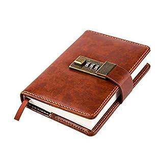 cuzit Mini Pocket Business Sichtschutz Tagebuch Büro Secret Notebook Studenten, Buch-Schreiben braun