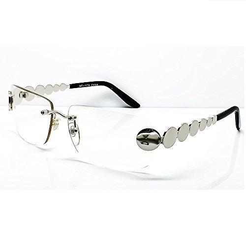 Preisvergleich Produktbild Kiss Brillen in neutralen CULT MOVIE - stil MATRIX AGENT SMITH - optischen rahmen VINTAGE mann frau SQUARE unisex - SILVER V2