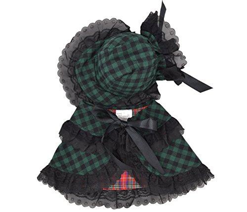 Yuno Pet Kleid Hund Welpen Kleidung Classic Style Saison Cute Fashion Cat Kostüm Baumwolle Hat Schal Perücke