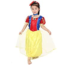 MissFox Halloween Niño Fantástico Fairytale Blancanieves Disfraz 7-9 Años