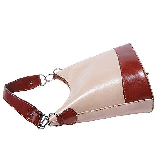 Borsa a spalla 8687 Tortora chiaro-marrone
