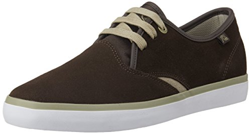 Quiksilver AQYS300017-XCCW  SHOREBREAK SUED M SHOE XCCW, Low-Top Sneaker uomo, Multicolore (Mehrfarbig (XCCW  BROWN/BROWN/WHITE)), 42