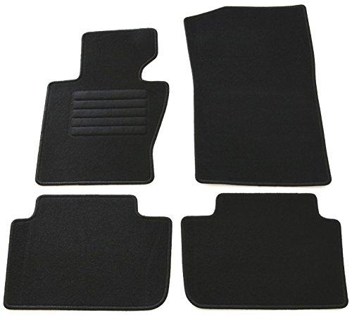 terciopelo ajuste felpudos Set, Negro para BMW X3tipo E83, Mod. BJ. 1/04–8/10