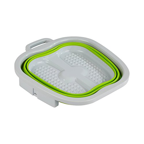 Falt-pool (TRI Platzspar-Fußbad, Fuß-Pflege-Wanne faltbar, Spülwanne Schüssel, Waschen Reinigen Pflege Pedikür gepflegte Füße, Kunststoff)
