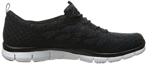 Skechers Femme Gratis - Blissfully Chaussure Décontractée Black/White Knit