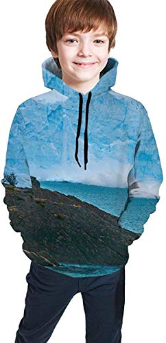 Jugend Kapuzenpullover Jungen Mädchen Unisex Kids 3D Funny and Happy Iceberg Pullover Hoodies Hooded Sweatshirts Tops Blouse with Pocket