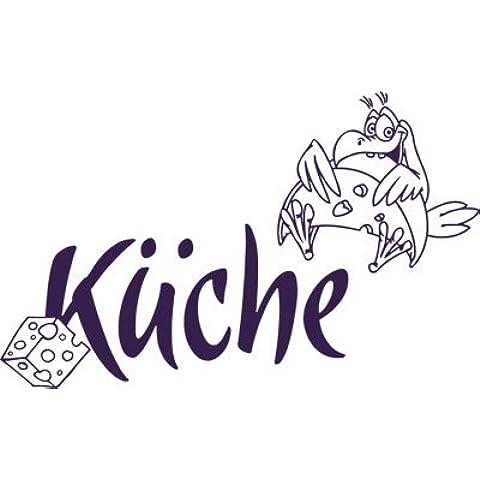 Design da porta con scritta cucina formaggio uccello formaggio dadi bagno Viola