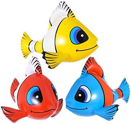 Aufblasbare Fische Tropische (WIDMANN S.R.L., TROPISCHE FISCHE gelb)