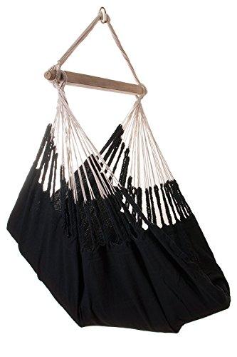 Suspendre Chaise hamac - Hamaca en tricot noir
