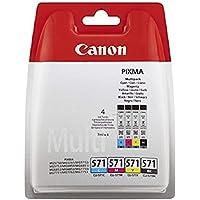 Canon CLI-571 Cartuccia Inchiostro, Ciano/Magenta/Giallo/Nero