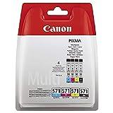 Canon CLI-571 BK/C/M/Y Tintenpatronen Multipack 4x 7ml schwarz/mehrfarbig