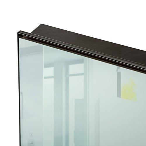 TecTake Spiegel Infrarotheizung Spiegelheizung ESG Glas Elektroheizung Infrarot Heizkörper Heizung inkl. Wandhalterung - diverse Modelle - (650 W | 93x62x4 cm | Nr. 402466) - 2