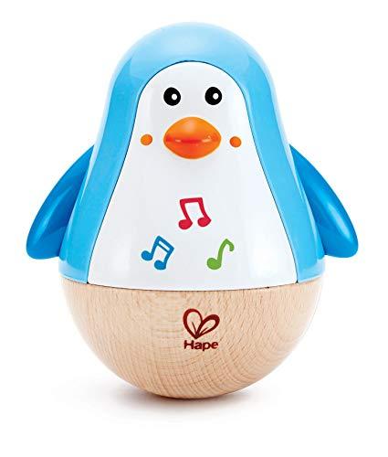 Hape E0331 - Stehauf-Pinguin, Stehaufmännchen mit Klang, blau, ab 6 Monaten